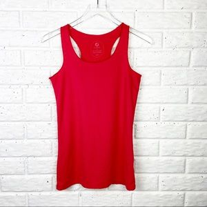 OISELLE Red Lightweight Athletic Razorback Tank